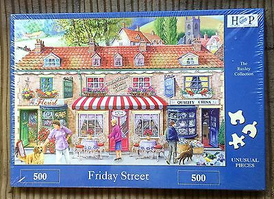 Friday Street 500 Piece Jigsaw Puzzle NEW SEALED Shopping/Florist/Cakes/China