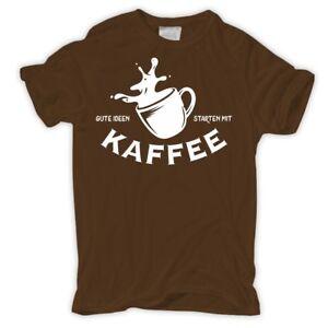 Details Zu Männer Tshirt Gute Ideen Starten Mit Kaffee Guten Morgen Sprüche Spruch Fun