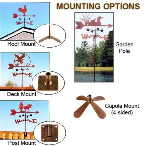 Complete w// Choice of Mount Weather Vane Camping Camper Trailer Weathervane