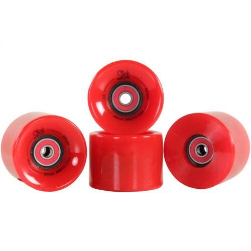 Pennyboard Skateboard Rollen Ersatzrollen 60 mm 78A ABEC9 Spacer SlickStuff