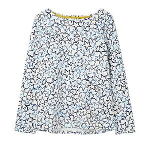 Joules-Festive-Harbour-Print-Jersey-Top-Cream-Star