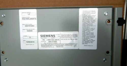Siemens P2 Panel Board Mounting Hardware for BL,BLH,HBL,BQD Breakers 3 Pole NEW