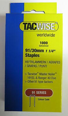 NEW Staples 91 Series 30mm DIY 1000 Pack