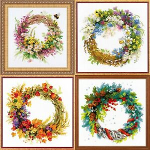 RIOLIS-Wreaths-Counted-Cross-Stitch-Kits