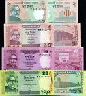 BANGLADESH - Lotto 4 banconote 2/5/10/20 taka FDS - UNC