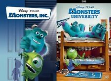 New Sealed Disney's Monsters Inc and Monsters University DVD! Fast Shipping!