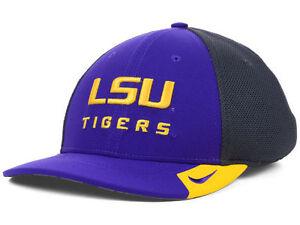 LSU Tigers Nike Legacy 91 Dri Fit Flexfit Hat Cap M/L