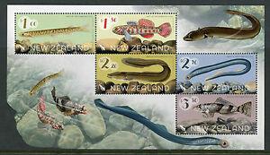Nouvelle-Zelande-NZ-2017-neuf-sans-charniere-Native-Freshwater-Fish-5-V-M-S-Anguille-Lamproie