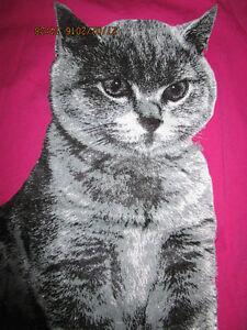 Here-amp-There-T-Shirt-Gr-122-128-pink-mit-Glitzer-grosses-Katzenmotiv