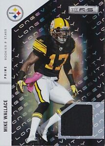 MIKE-WALLACE-2011-ROOKIES-amp-STARS-LONGEVITY-PRIME-117-JERSEY-PATCH-06-50-FB2020