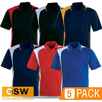 3 X MENS COOL-BREATHE LADIES EASY-CARE FABRIC WORK STAFF UNIFORMS POLO SHIRTS