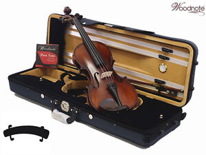 New-Student-4-4-Antique-Violin-Bow-Square-Shape-Case-Rosin-Extra-String-Set