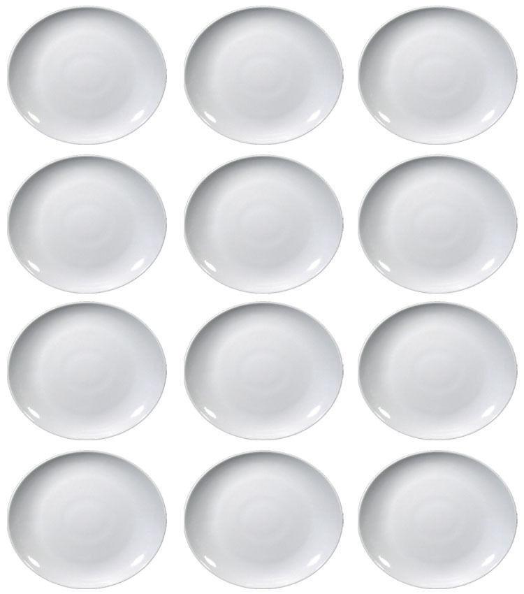 12 Piatti Bistecca Ovale TIVOLI SATURNIA di porcellana 27,5cm x 24cm NUOVI