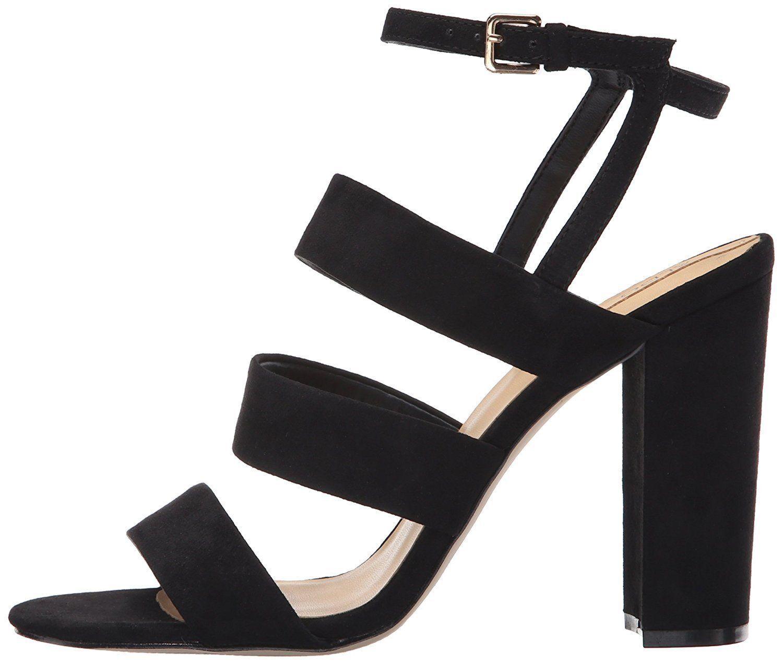 Aldo Winfrey taille 7 3 5 7 taille Noir Daim Synthétique Talon Haut Bride Cheville  s Chaussures Nouveau 66a2f1
