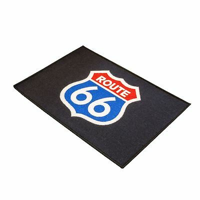 "Costante Biketek Office/home/garage Ingresso Tappetino Serie 3 Route 66 Logo-drm034-rage Entrance Mat Series 3 Route 66 Logo - Drm034"" Data-mtsrclang=""it-it Mostra Il Titolo Originale Caldo E Antivento"