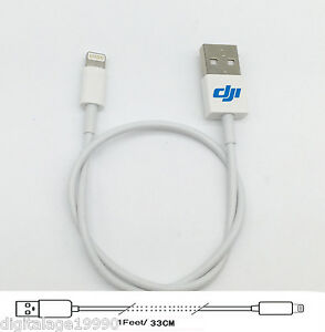 Lightning-to-USB-Cable-for-DJI-Phantom-4-3-DJI-Matrice-M100-33cm-Perfect-Size