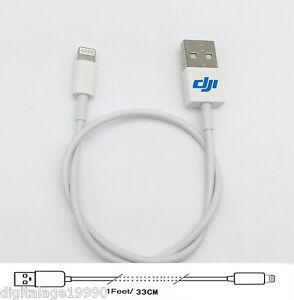 Lightning-Usb-Cable-1ft-For-DJI-Phantom-4-3-DJI-Inspire-1-Pro-Inspire-1-RAW-PRO