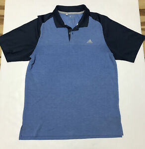 Adidas-Men-s-Polo-Shirt-Climacool-Golf-Short-Sleeve-Casual-Camping-Size-M-Blue