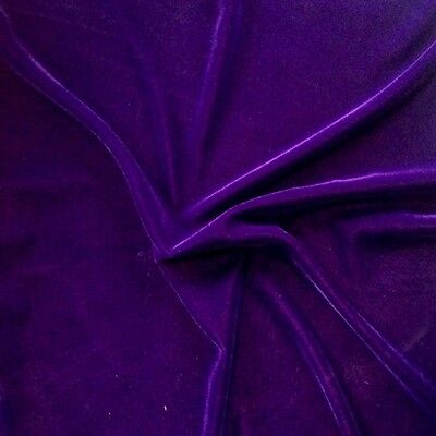 """Soft Velvet Fabric 45"""" inches By the Yard for Sewing Apparel Crafts"""