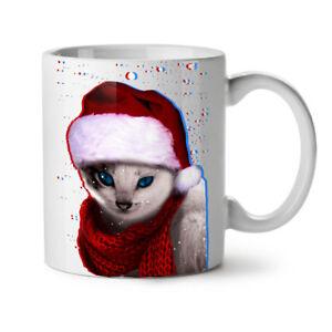 Christmas Cat NEW White Tea Coffee Mug 11 oz | Wellcoda