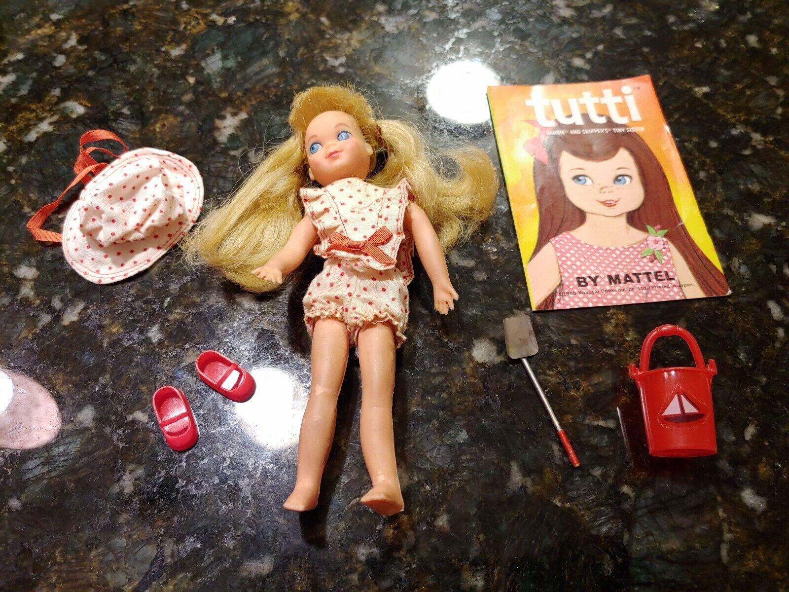 Vtg Barbie TUTTI 3603 Sand Castles Pail Shovel Jump Ropes Hat Shirt Mirror schuhe