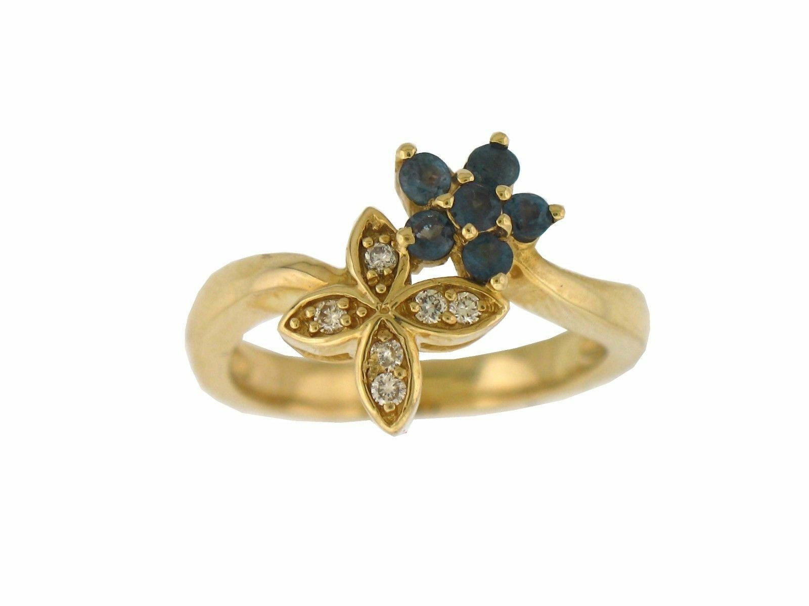 Natural Alexandrite color Change Diamond Ring 14K Yellow gold With Certificate