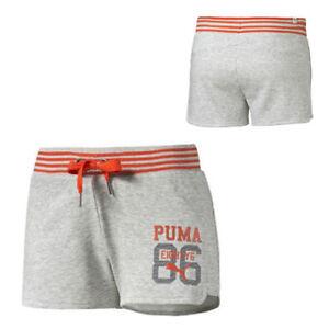 Puma-Stile-Atletico-Donna-Luce-Grigio-Erica-Sport-Corto-Shorts-836403-04-A7B