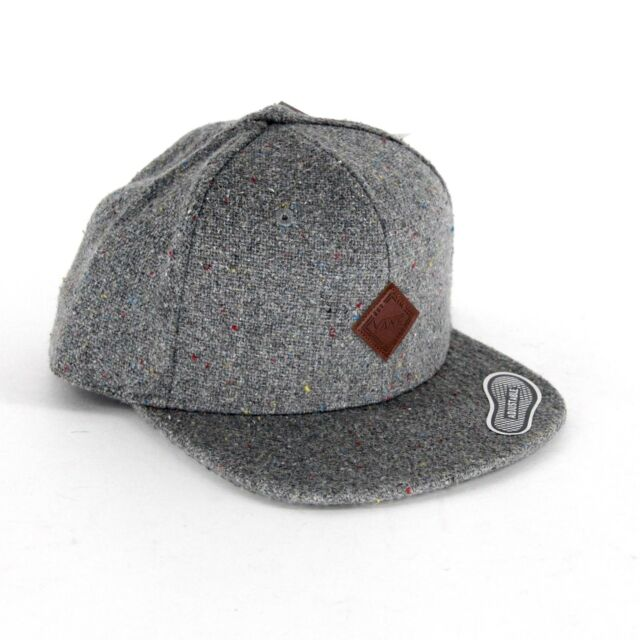 e4955dd1 Vans Off The Wall Avery Gray Speck Wool Blend Adjustable Snapback Hat Cap