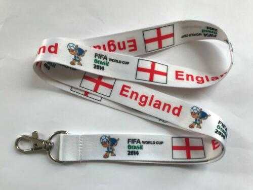 Keyring ID Holder Strap Brazil 2014 FIFA UK Seller England Lanyard NEW