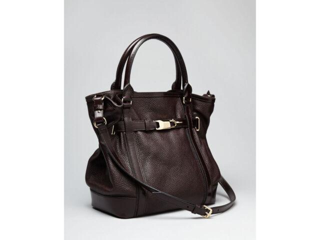 5c5571b23bc6 100 Authentic Burberry Golderton Bridle Chocolate Brown Tote Handbag ...