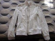 Energie White Biker Jacket Size L