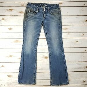 American-Eagle-Stretch-Artist-Blue-Distressed-Denim-Bootcut-Jeans-Womens-Size-4