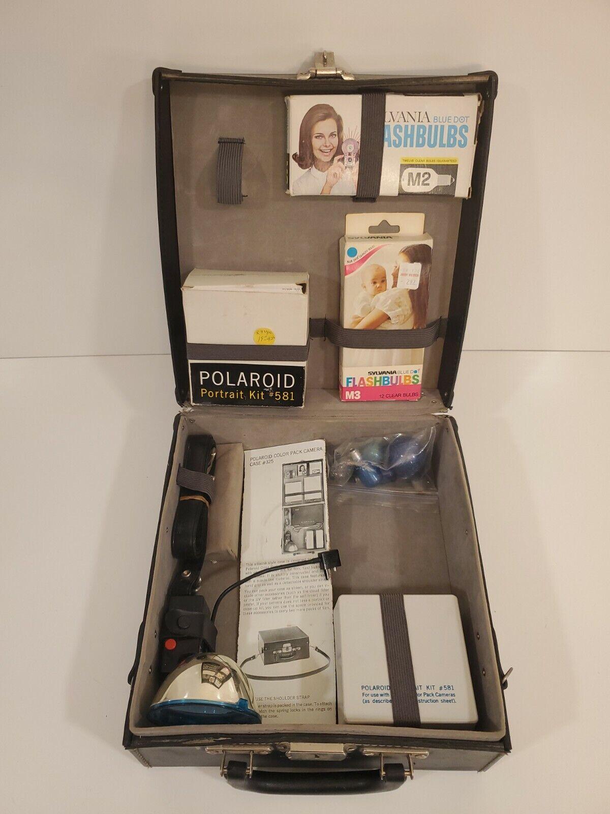 Vintage Hard Leather Camera Case Polaroid Color Pack Camera Case #325 HTF