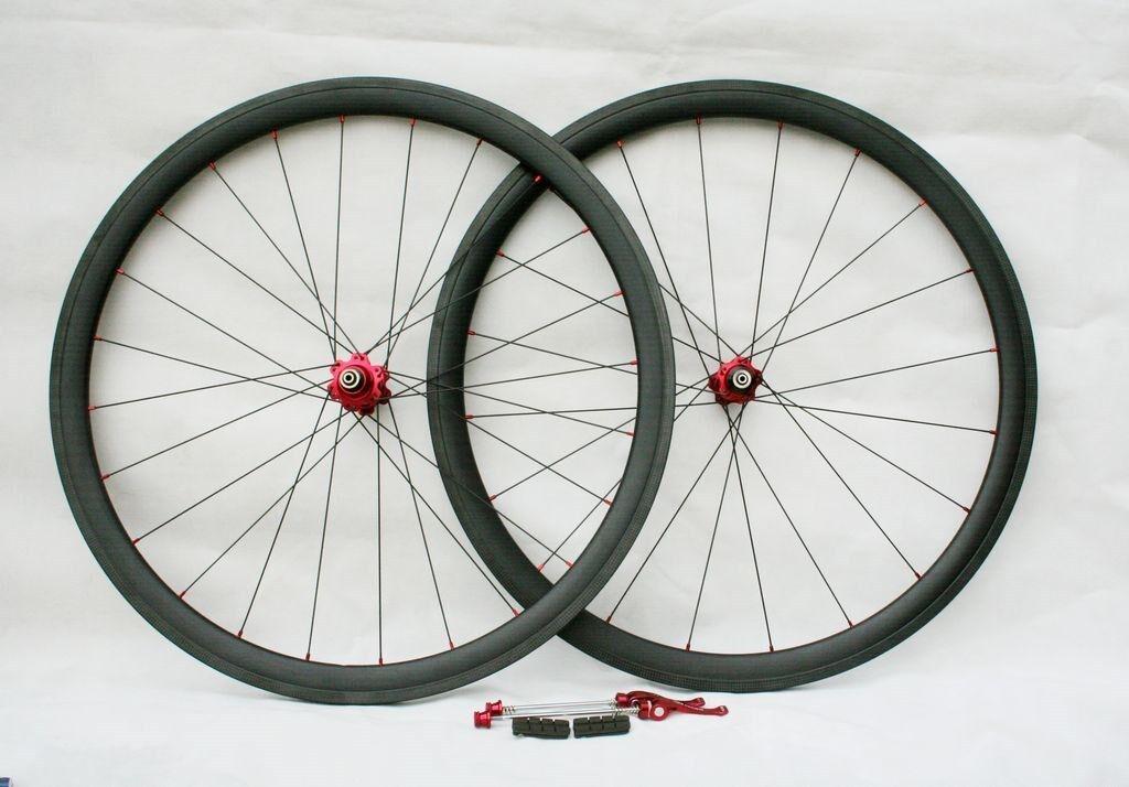 New Hand Built 700C Carbon Fiber Road Wheelset 38mm  Tubular Wheelset 8 9 10 11s  cheap online