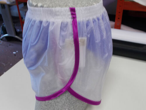 Olive-White Sheer Ripstop Nylon Sprinter Shorts S 4XL