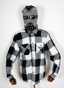 Huf Worldwide Skateboard T-Shirt Tee Woven Hemd Heights Flannel Black in M
