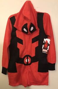 6b5f5a4ef57 Women s Marvel (small)  DEADPOOL Hooded Costume Cosplay Romper-SUPER ...