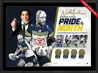 JOHNATHAN THURSTON NORTH QUEENSLAND COWBOYS SIGNED FRAMED 2015 DALLY M PRINT