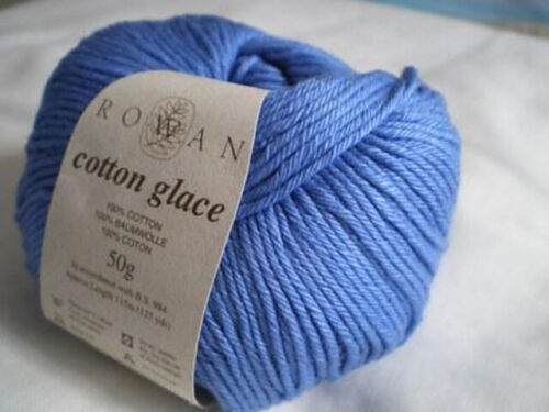 blue color SPLENDOUR 1 SKEIN SOFT  KNITTING YARN ROWAN COTTON GLACE