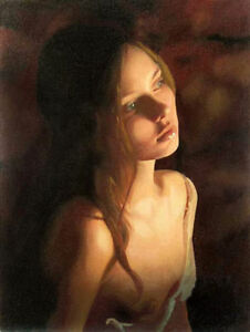 ZWPT186-100-handpainted-beautiful-girl-Candlelight-night-oil-painting-Canvas