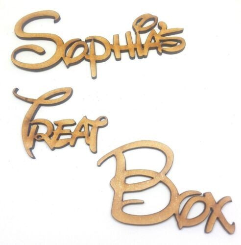 DISNEY FONT PERSONALISED BOX PLAQUES 8 DESIGNS /& ANY NAME sign craft letters S
