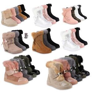 premium selection 2c13b 26e19 Details zu Warm Gefütterte Damen Stiefeletten Winterboots Fell Nieten  814300 Schuhe
