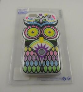 for-Iphone-5-5S-phone-case-Owl-rainbow-colors-bling