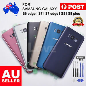NEW-For-Samsung-Galaxy-S7-Edge-Back-Rear-Glass-Housing-Battery-Cover-Case-TOOLS