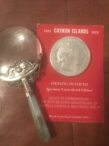 1972-Silver-Cayman-Island-1-527-ASW-25-Sterling-Silver-Comm-Uncirculated