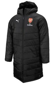 Puma Men Arsenal Bench Long Padded Jacket Winter Black