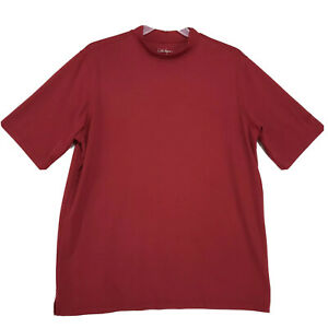 Walter Hagen Mock Neck Dry Fit Shirt Mens Size XL Red Short Sleeve ...