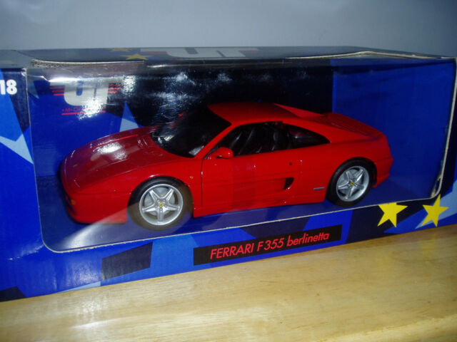 ut models ferrari f355 berlinetta coupe diecast car (red) 1 18 for