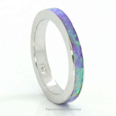 Opal Sterling Silver Eternity Band Ring 3MM  Private listing for kdahan13