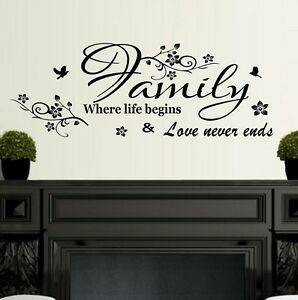 Wall-Stickers-Quotes-Family-where-life-begins-Home-Art-Decor-SVIL111